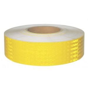 Лента светоотражающая Желтая. Рулон 50м