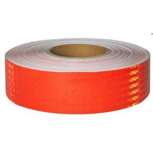 Лента светоотражающая Красная. Рулон 50м