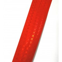 Лента Красная светоотражающая. Метр