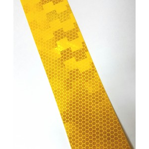 Лента Желтая светоотражающая. Метр